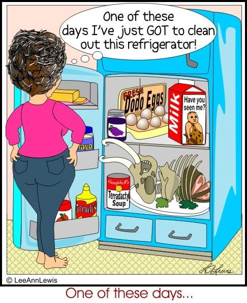 Messy Refrigerator: Linda's Bible Study