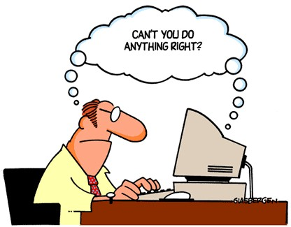 Image result for computer frustrations cartoon